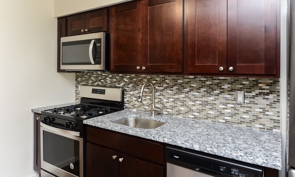 Kitchen at Apartments in Piscataway, NJ
