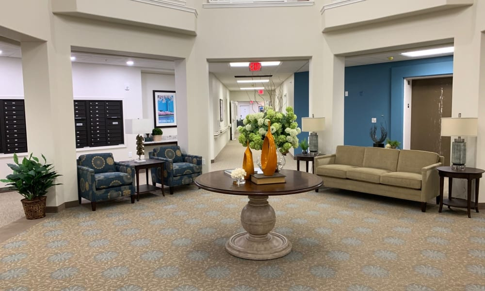 An entertainment room at Wilshire Estates Gracious Retirement Living in Silver Spring, Maryland