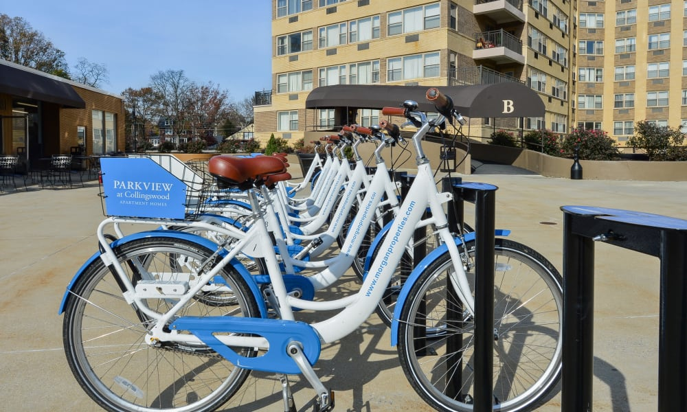 Free bike-share at Parkview at Collingswood Apartment Homes in Collingswood, New Jersey