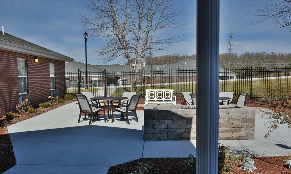 Secure Outdoor Living Space at NorthRidge Place in Lebanon, Missouri