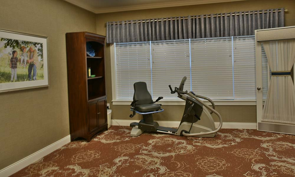 Wellness and Fitness Room at NorthRidge Place in Lebanon, Missouri