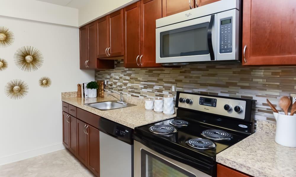 Kitchen at Stonegate at Devon Apartments in Devon, Pennsylvania