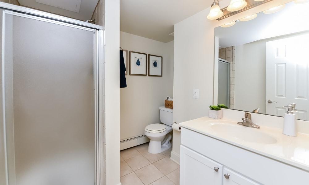 Bathroom at Stonegate at Devon Apartments in Devon, Pennsylvania