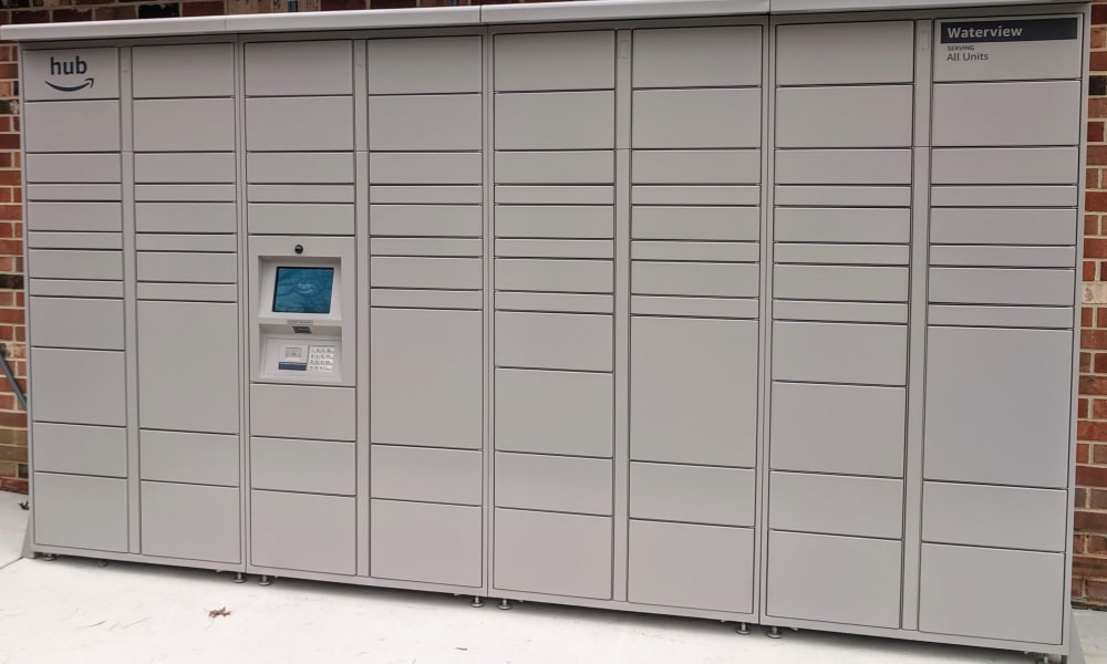 Resident Package Lockers at Waterview Apartments in West Chester, Pennsylvania