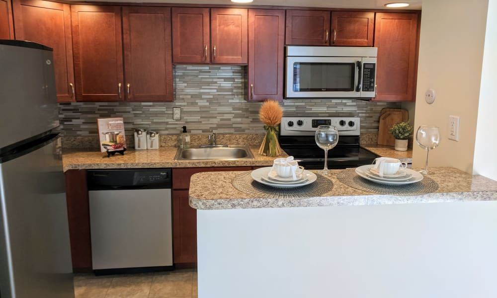 Kitchen at Waterview Apartments in West Chester, PA