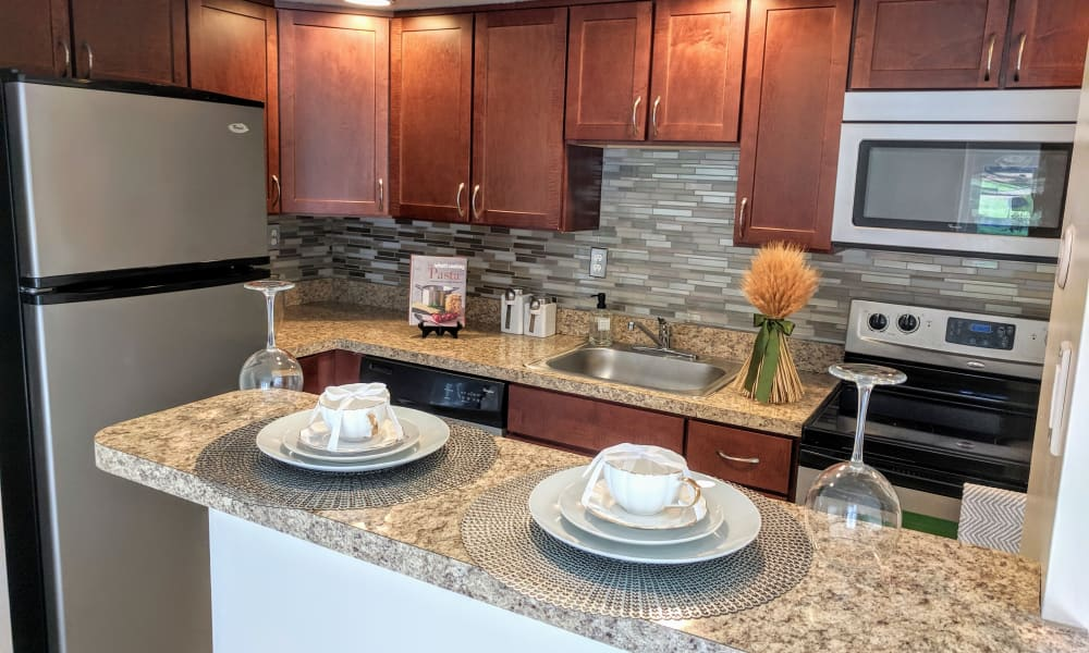 Modern Kitchen at Waterview Apartments in West Chester, Pennsylvania