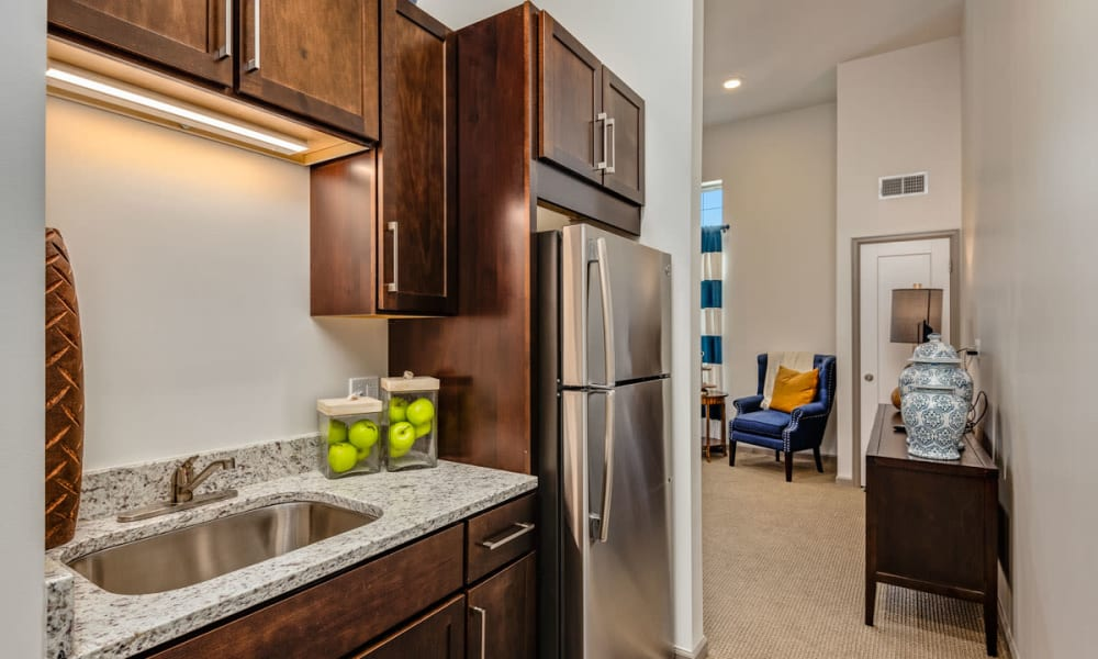 Spacious floor plans with a kitchenette at Anthology of Town and Country in Town and Country, Missouri.