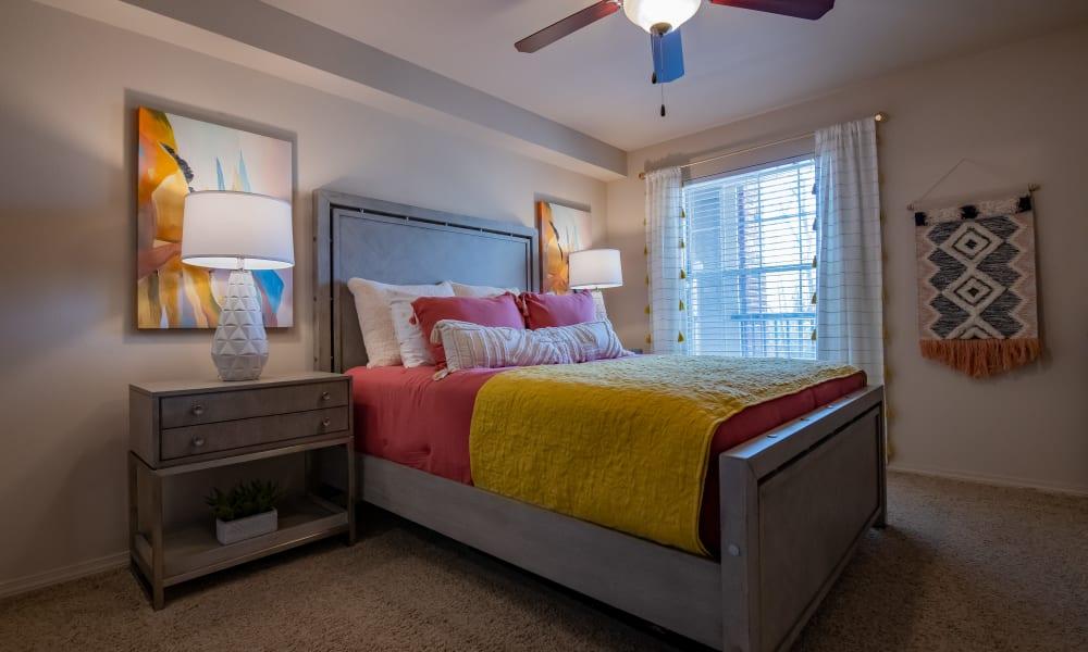 The bedroom at Nickel Creek Apartments in Tulsa, Oklahoma