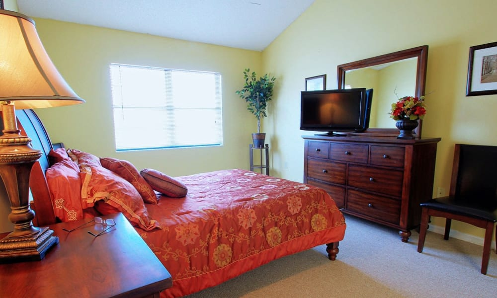 A spacious bedroom at Bayside Terrace in Pinellas Park, Florida