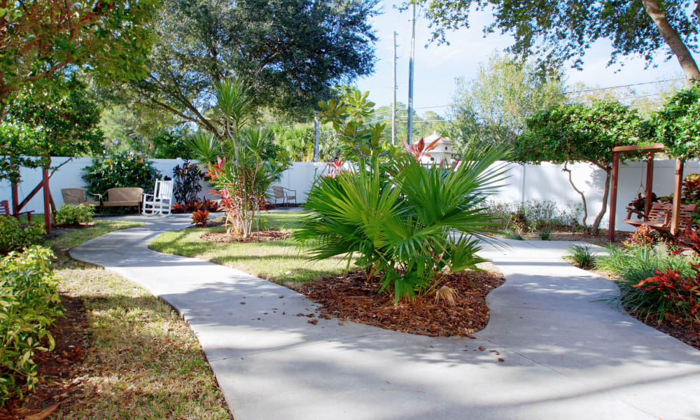 Paved walkways at Bayside Terrace in Pinellas Park, Florida