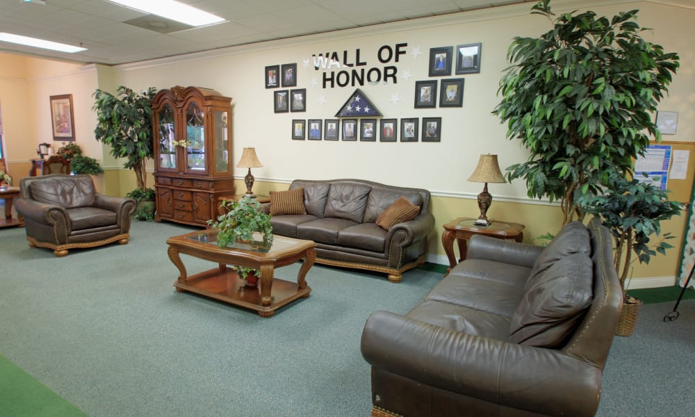 The wall of honor at Spring Oaks in Brooksville, Florida