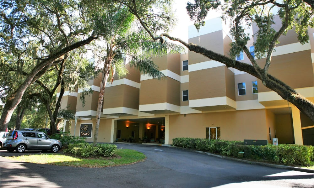 The clean exterior of The Grande in Brooksville, Florida