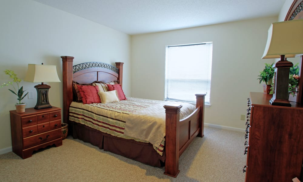 A large bedroom at Renaissance Retirement Center in Sanford, Florida