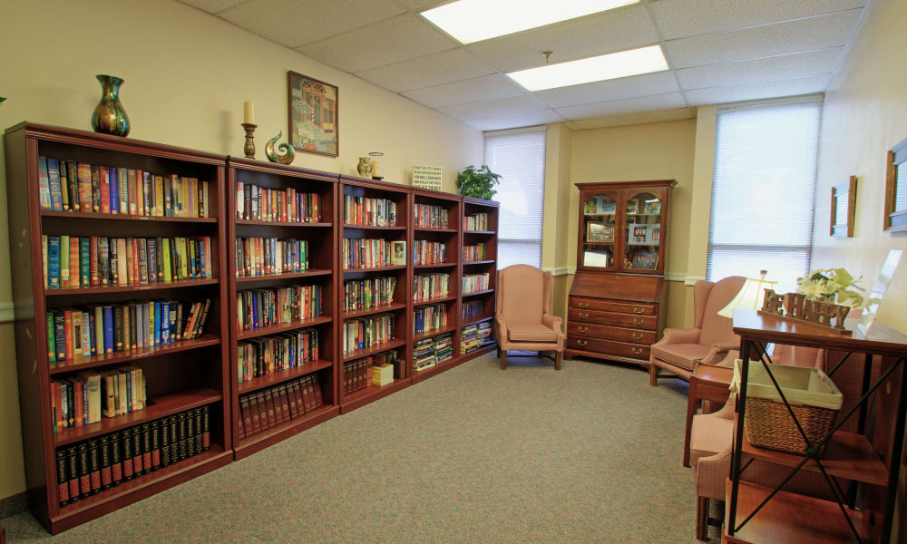 A quiet reading room at Spring Haven in Winter Haven, Florida