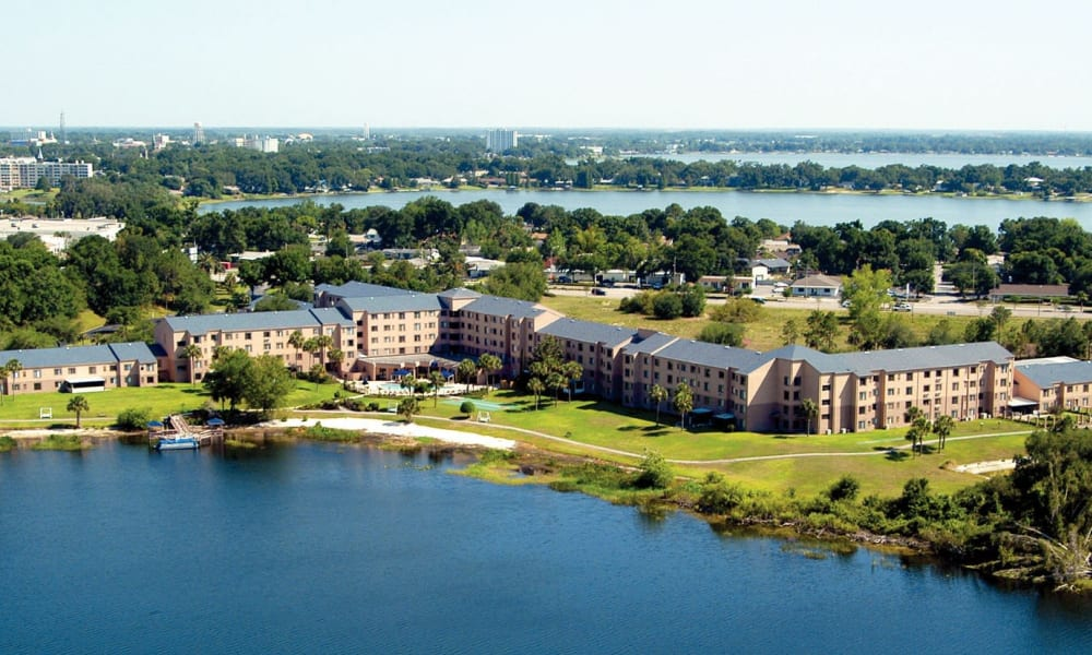 A view from above of Spring Haven in Winter Haven, Florida
