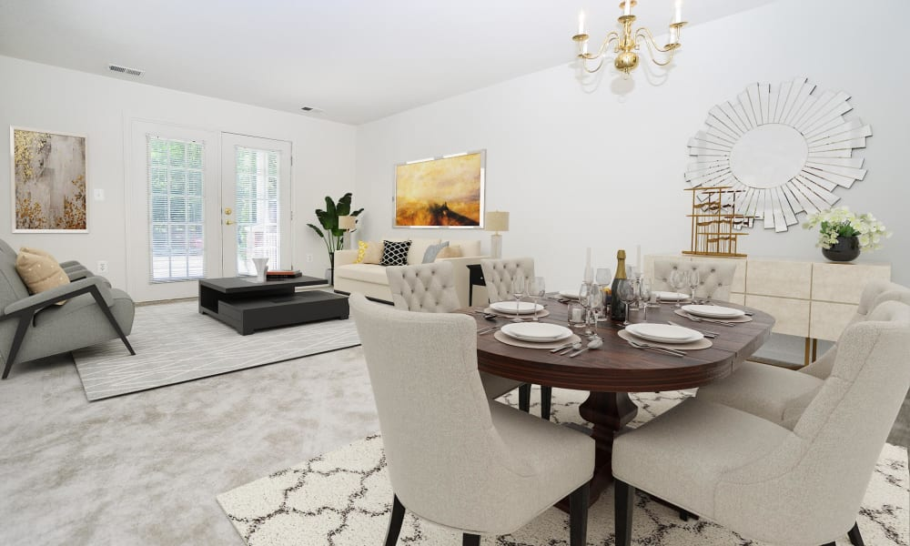 Beautiful Living Room at The Horizons at Franklin Lakes Apartment Homes in Franklin Lakes, New Jersey