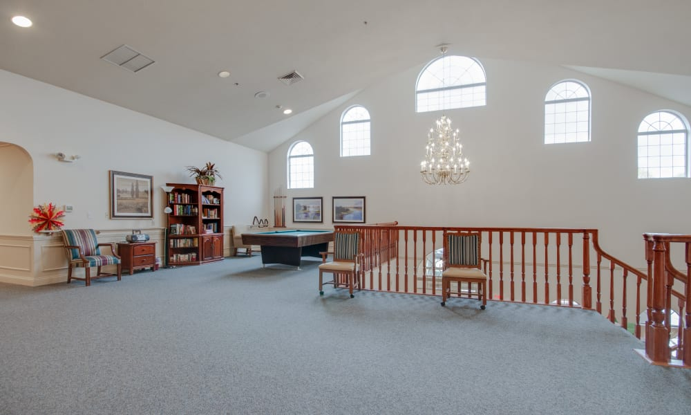 2nd floor activity room at Villas of Holly Brook Chatham in Chatham, Illinois