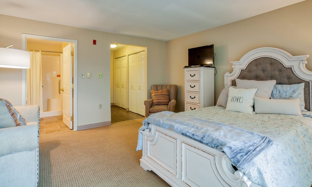 Enjoy plenty of room in the large bedrooms at Chapel Hill in Cumberland, Rhode Island