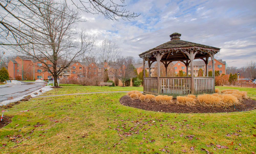 A community gazebo at Chapel Hill in Cumberland, Rhode Island
