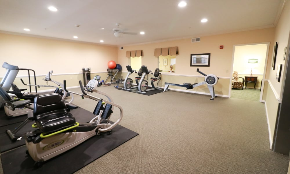 The fitness room at The Crossings at Bon Air in Richmond, Virginia