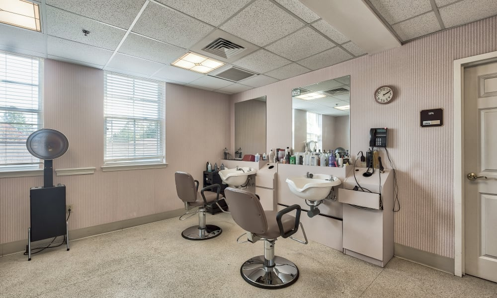 Hair salon at Hillhaven in Adelphi, Maryland