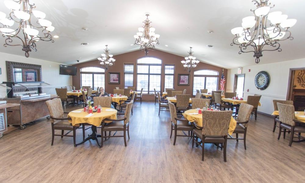 Spacious Dining hall at Villas of Holly Brook Newton in Newton, Illinois