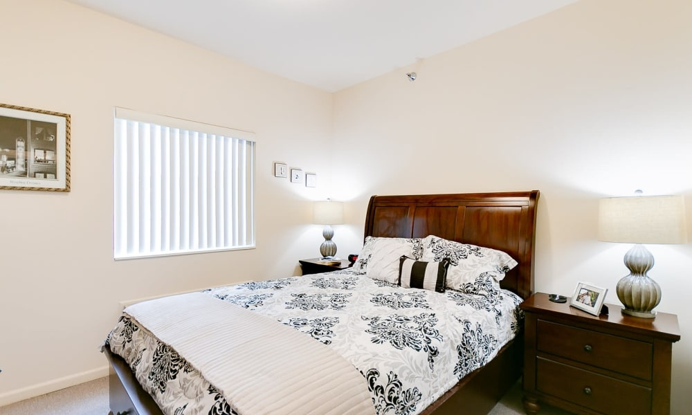 Independent living bedroom model at Brentwood at Hobart in Hobart, Indiana