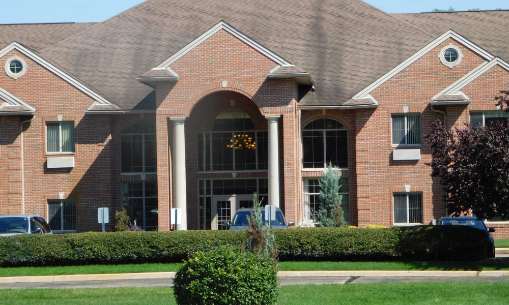 Front entrance at Brentwood at Elkhart in Elkhart, Indiana