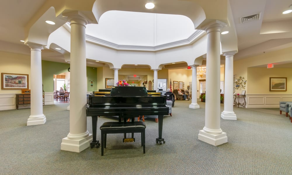 Piano in foyer at Eastlake Terrace in Elkhart, Indiana