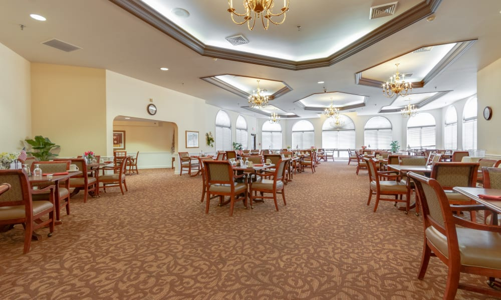 Dining hall at Eastlake Terrace in Elkhart, Indiana