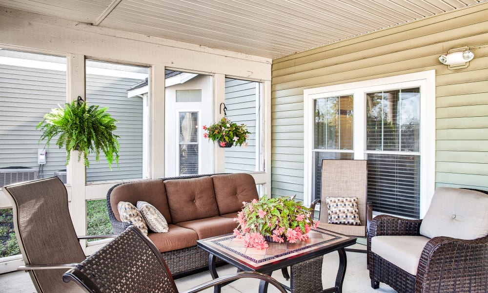 Patio furniture at Landings of Sidney in Sidney, Ohio