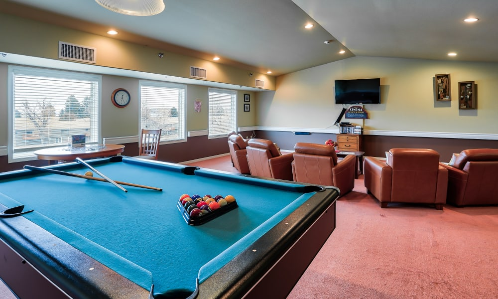 A pool table at The Wellington in Minot, North Dakota