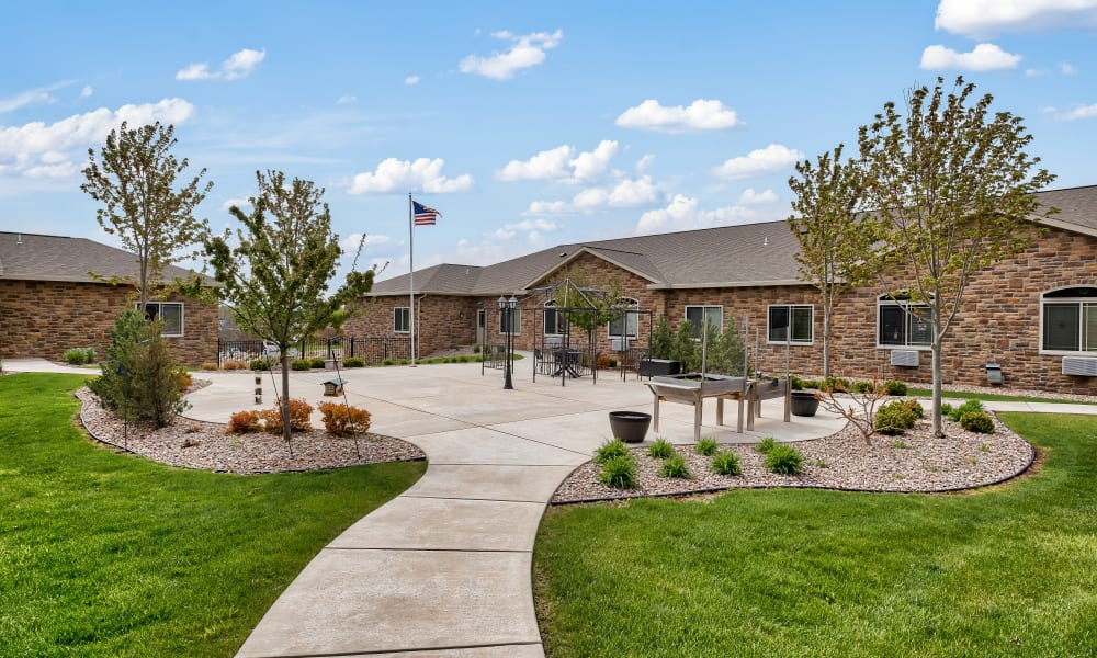 Landscaping at Allouez Sunrise Village in Green Bay, Wisconsin