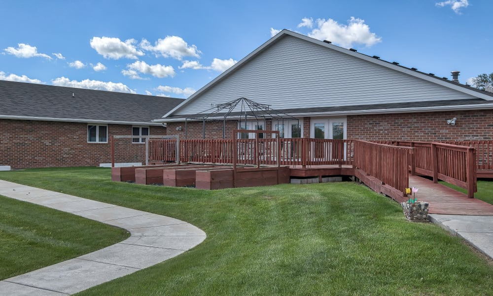 Beautiful green grass at Bishop's Court in Allouez, Wisconsin