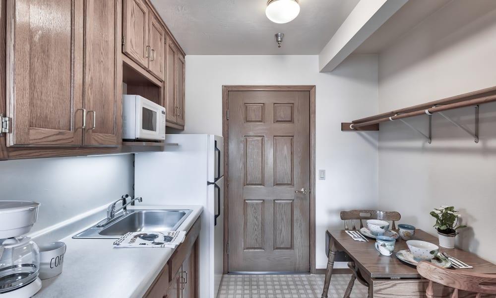 A kitchen at Bishop's Court in Allouez, Wisconsin
