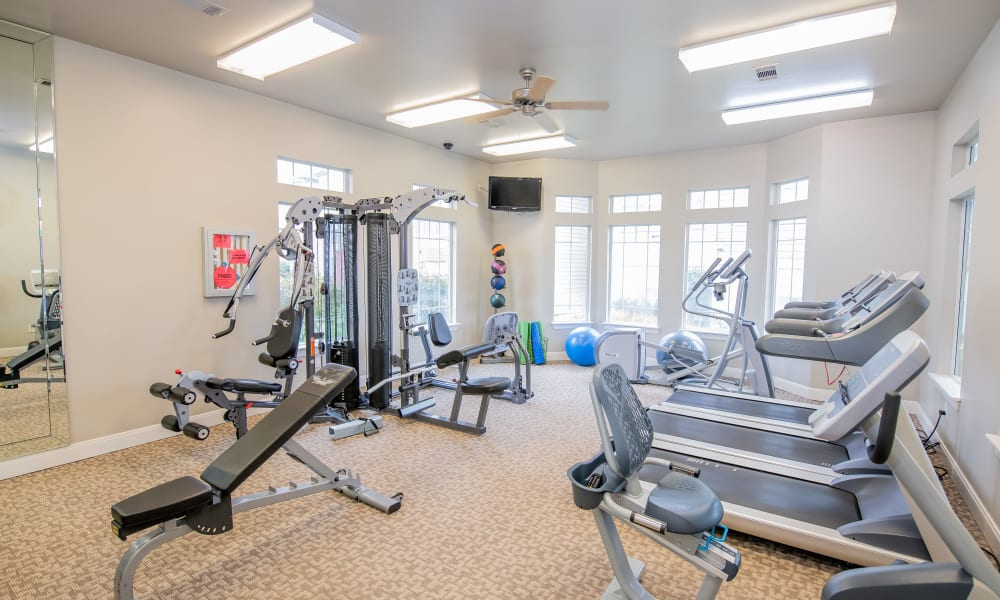 The gym at Colonies at Hillside in Amarillo, Texas