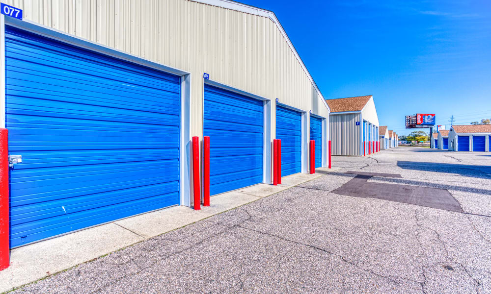Driveway through storage units at Devon Self Storage in Jenison, Michigan