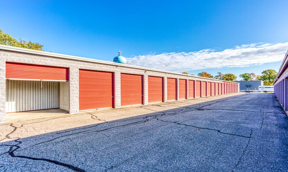 Driveway through storage units at Devon Self Storage in Holland, Michigan
