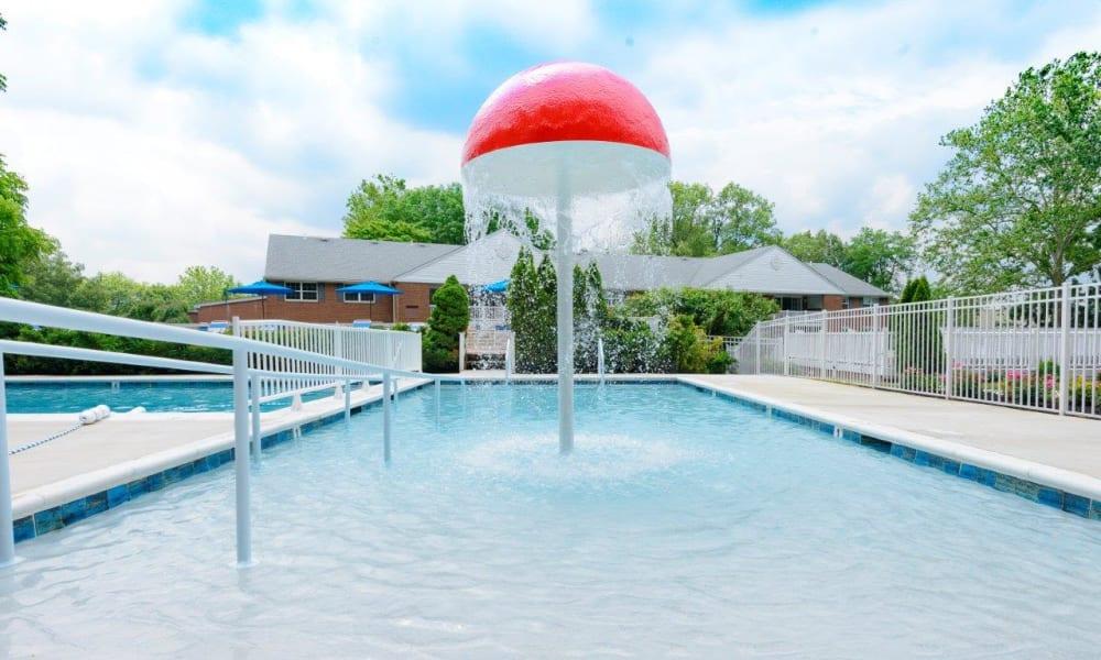 Large swimming pool at Strafford Station Apartments in Wayne, Pennsylvania