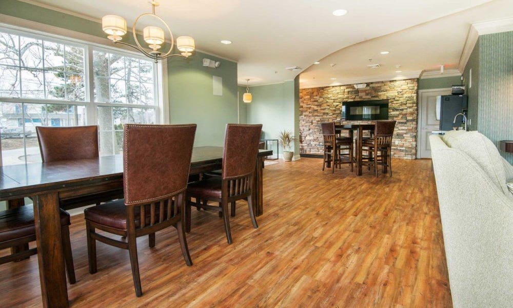 Clubhouse at Strafford Station Apartments in Wayne, Pennsylvania