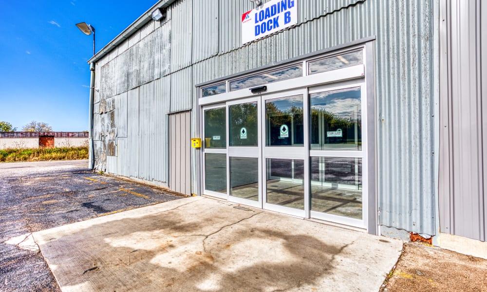 Driveway through storage units at Devon Self Storage in Davenport, Iowa
