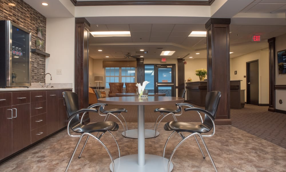 Community seating at Trilogy Health Services - Miami Township in Miami Township, Ohio