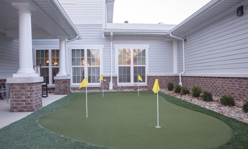 The putting green in front of Trilogy Health Services - Miami Township in Miami Township, Ohio