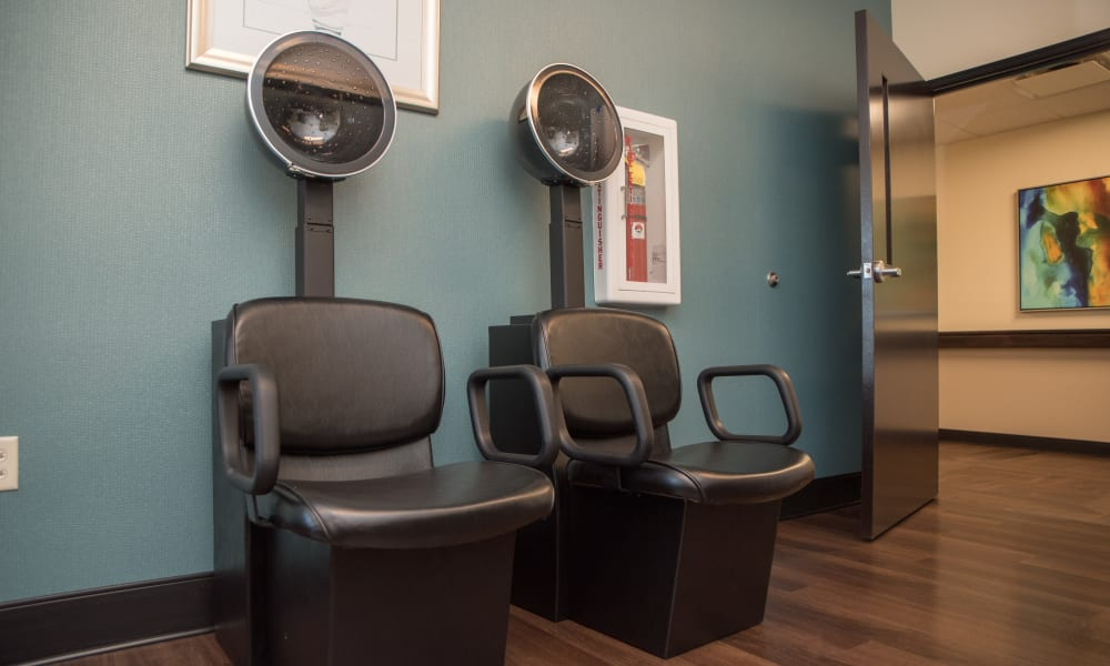 The onsite hair salon at Trilogy Health Services - Miami Township in Miami Township, Ohio