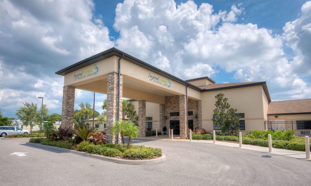 Entryway to Inspired Living Hidden Lakes in Bradenton, Florida