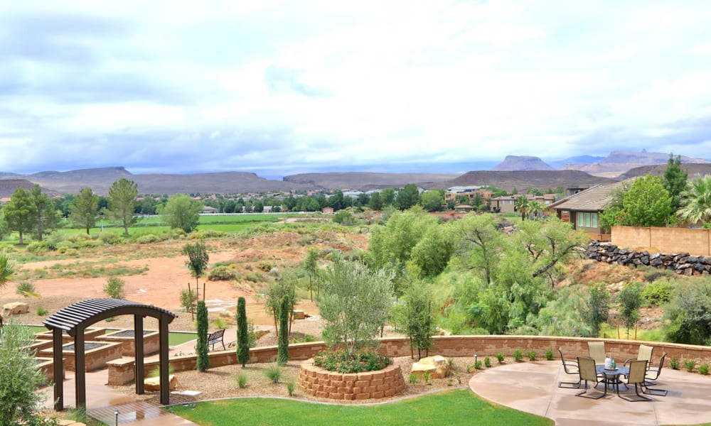 The beautiful grounds at The Retreat at Sunbrook in St. George, Utah