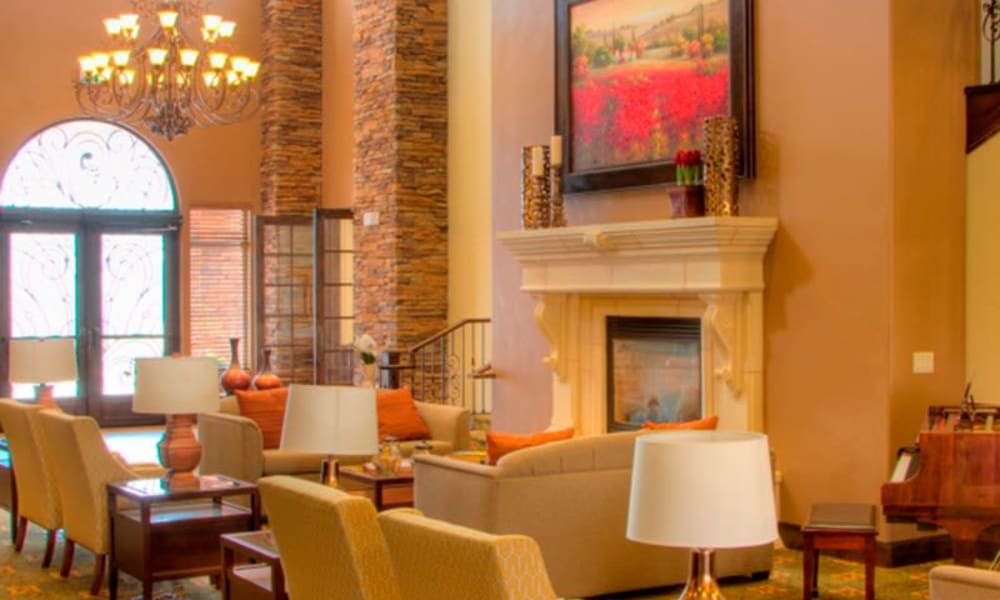 A visiting area at The Retreat at Sunriver in St. George, Utah
