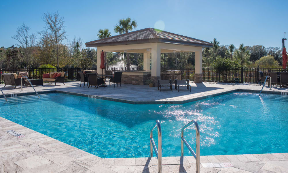 Sparkling swimming pool at Inspired Living Lakewood Ranch in Bradenton, Florida