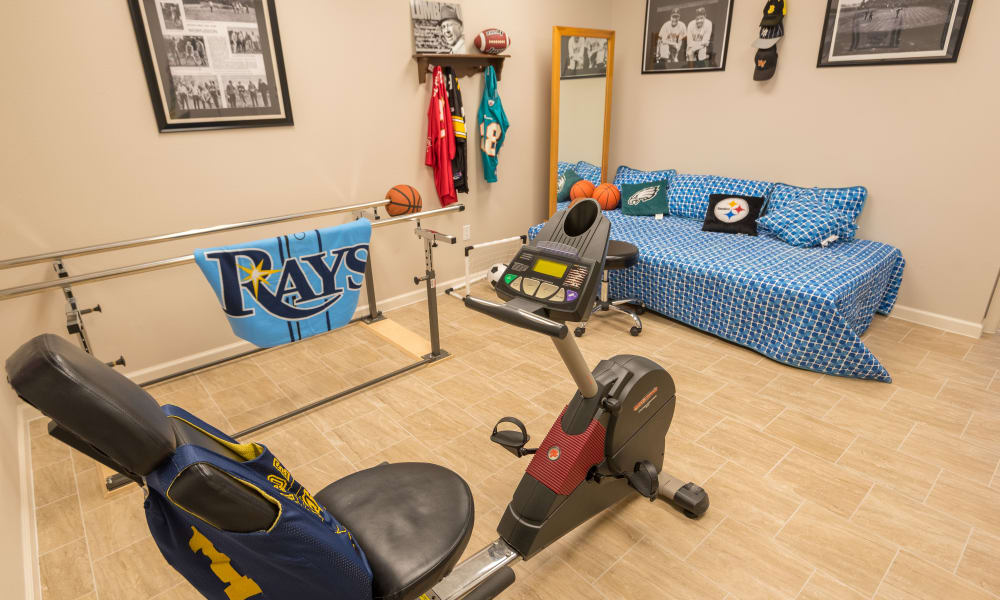 Physical therapy at Inspired Living at Royal Palm Beach in Royal Palm Beach, Florida.