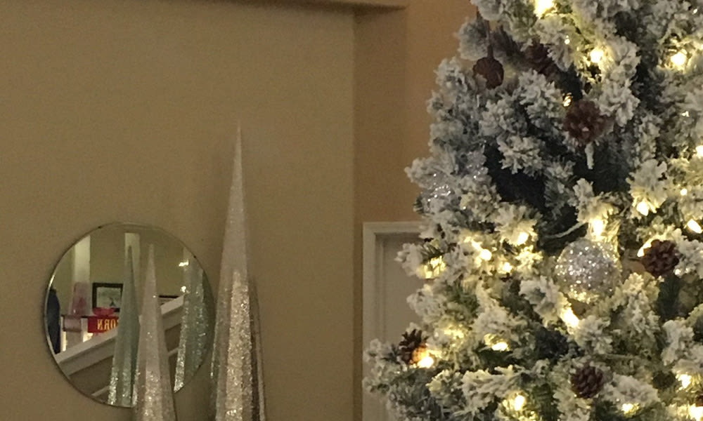 Christmas Tree decor at Woodside Senior Living in Springfield, Oregon